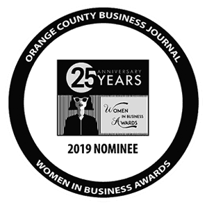 orange county business journal women in business award black and white
