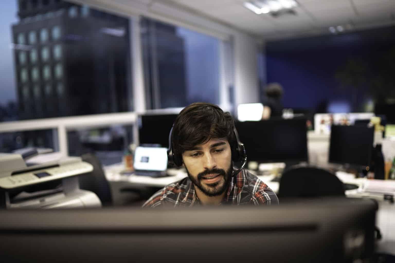 man working on computer - C3 Tech
