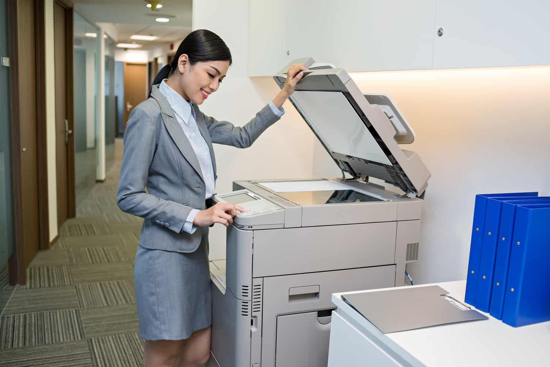woman using Multifunction Printers