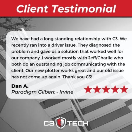 C3 Tech client testimonial Irvine
