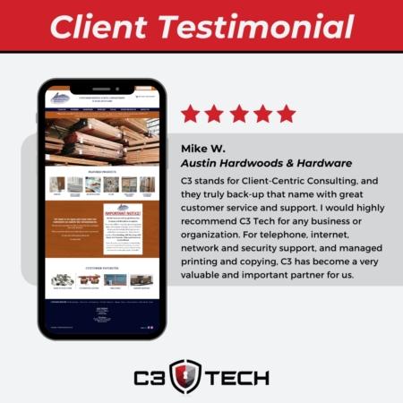 C3 Tech client testimonial Santa Ana
